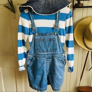 Gap Vintage Short Overalls- S denim , cotton ,blue